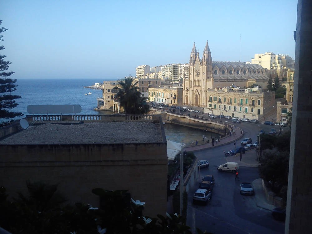 View from the hotel in Malta