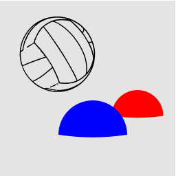 Volleyball 2D Logo